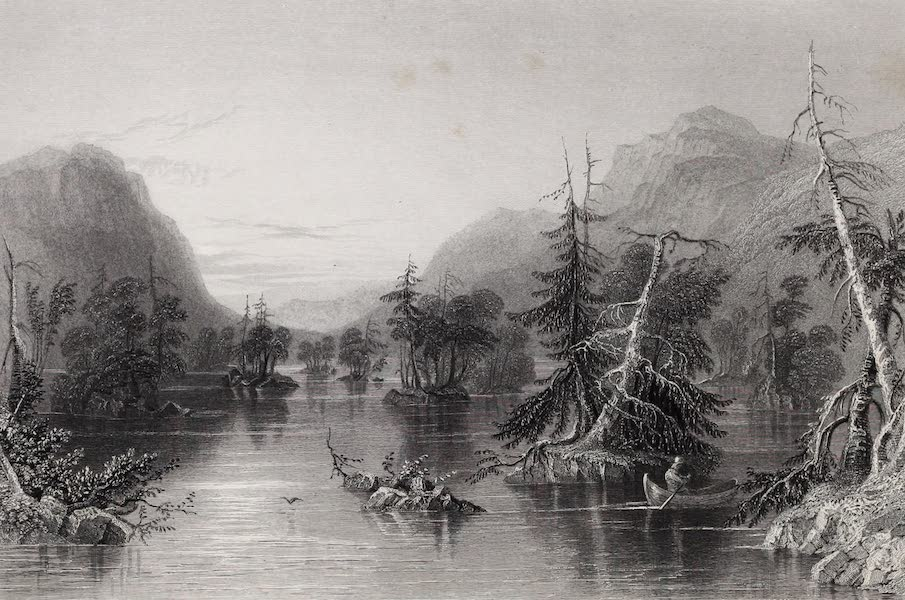 American Scenery Vol. II - Scene among the Highlands on Lake George (1840)