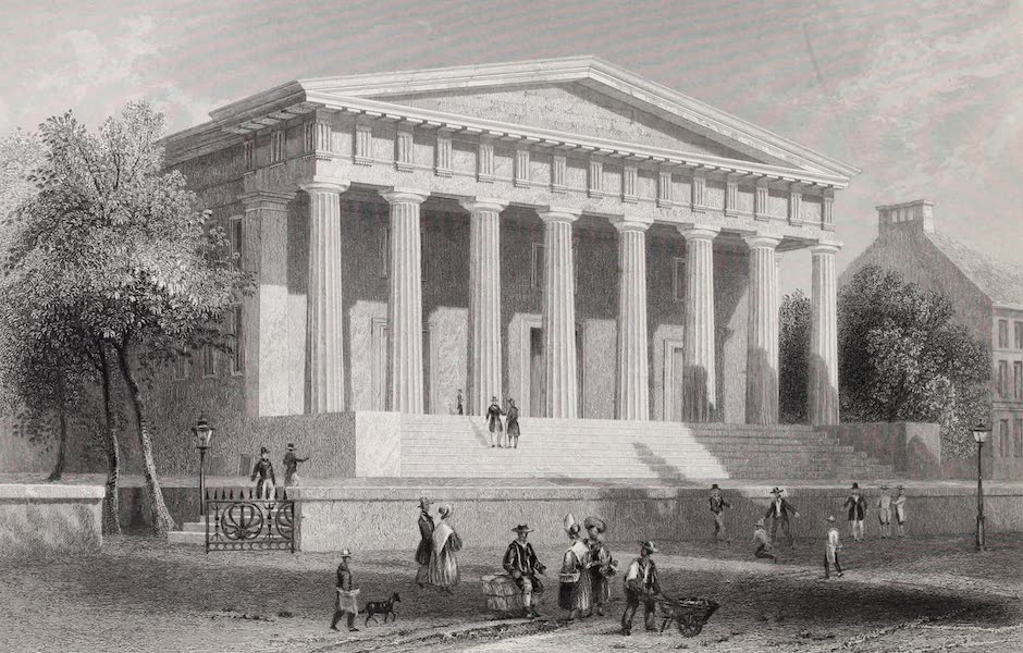 American Scenery Vol. II - The United States Bank, Philadelphia (1840)