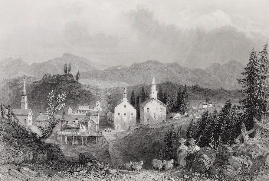 American Scenery Vol. II - Village of Catskill (1840)
