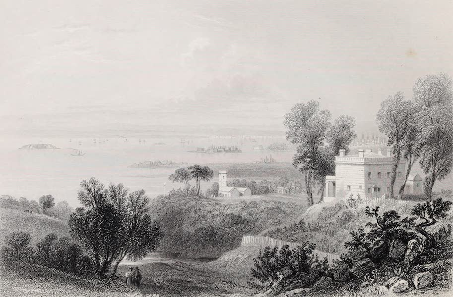 American Scenery Vol. II - View from Gowanus Heights, Brooklyn (1840)