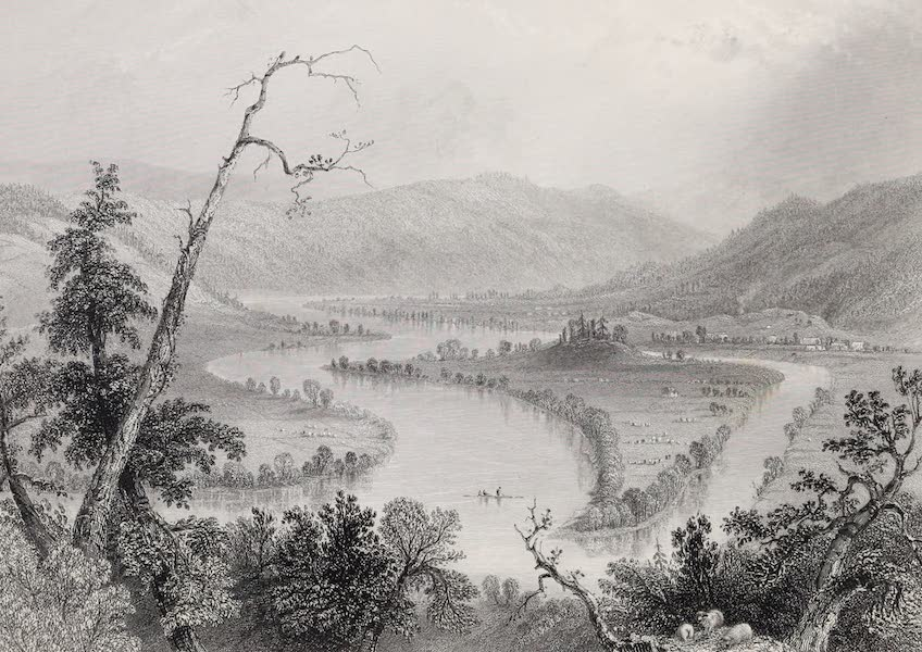 American Scenery Vol. II - View on the Susquehanna (above Owego) (1840)