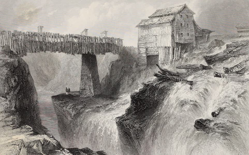 American Scenery Vol. II - Bridge at Glens Fall (on the Hudson) (1840)