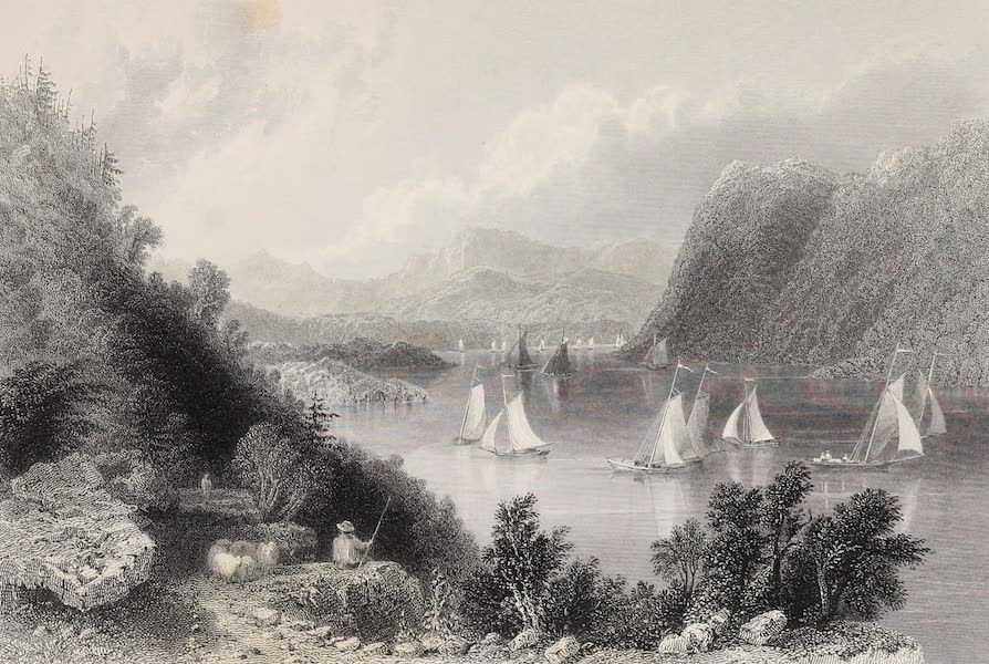 American Scenery Vol. II - View near Anthony's Nose (Hudson Highlands) (1840)
