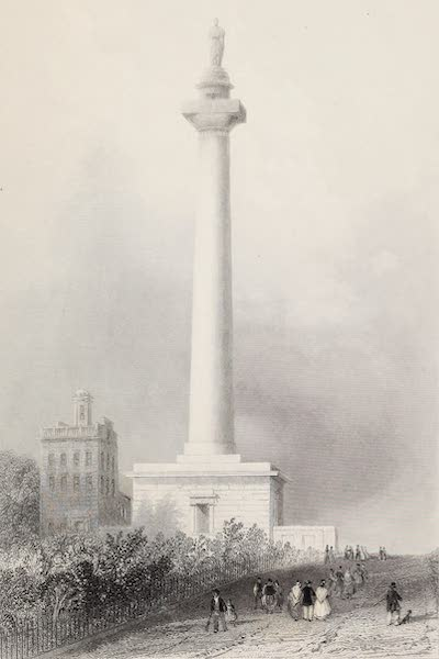 American Scenery Vol. II - Washington's Monument, Baltimore (1840)