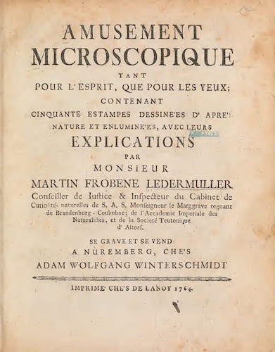 Aquatint & Lithography - Amusement Microscopique Vol. 1