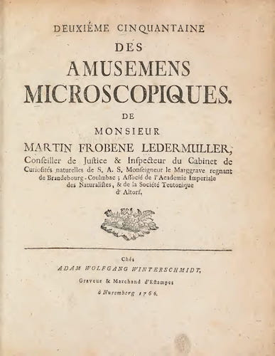 Aquatint & Lithography - Amusement Microscopique Vol. 2