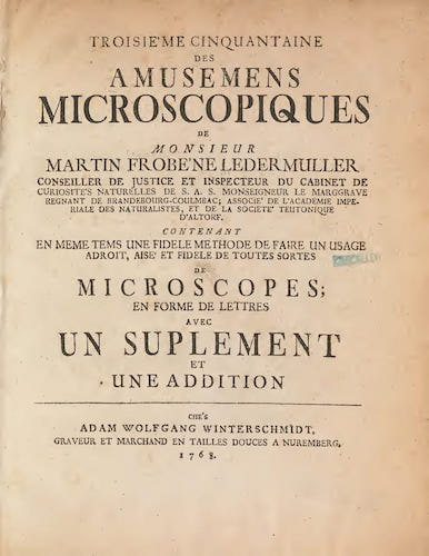 Aquatint & Lithography - Amusement Microscopique Vol. 3