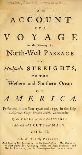 English - An Account of a Voyage for the Discovery of a North-West Passage Vol. 2