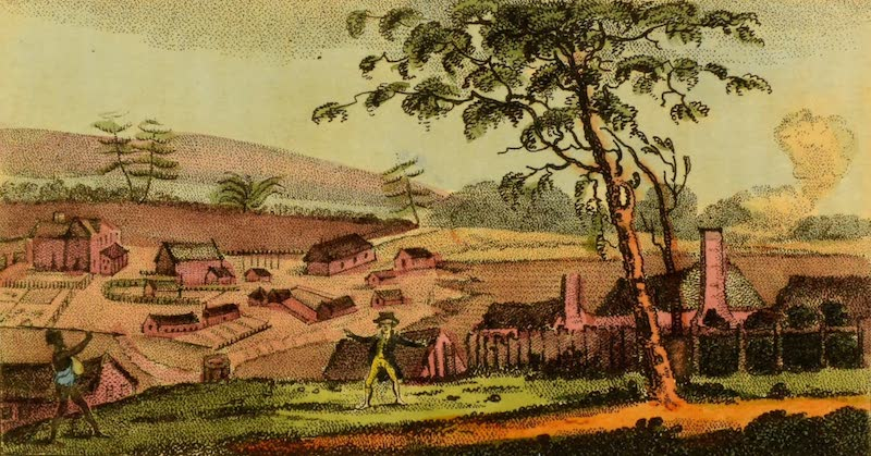An Account of a Voyage to New South Wales - East view of Sydney (1803)