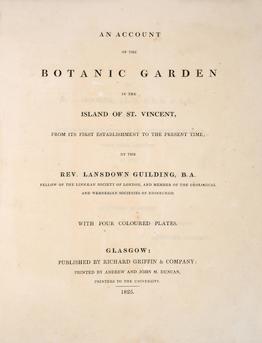 Aquatint & Lithography - An Account of the Botanic Garden in the Island of St. Vincent