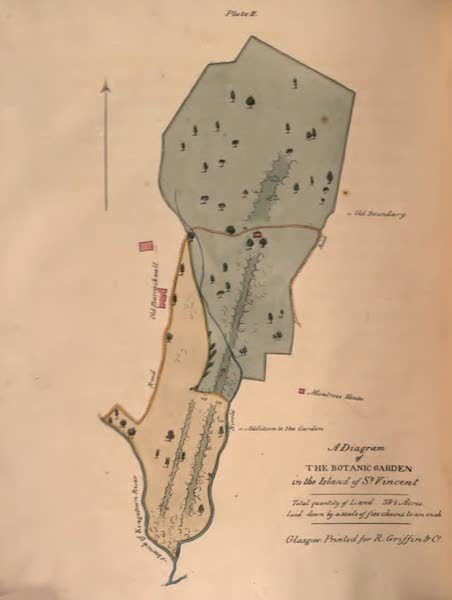 An Account of the Botanic Garden in the Island of St. Vincent - A Diagram of the Botanic Garden in the Island of St. Vincent (1825)