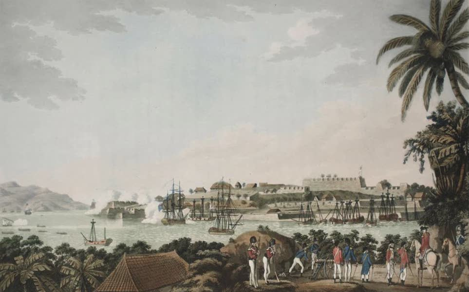 An Account of the Campaign in the West Indies - N.E. view of Fort Louis in the Island of Martinique (1796)