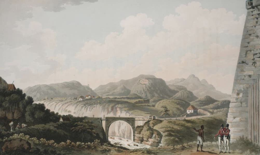 An Account of the Campaign in the West Indies - The Bridge over the River Gallions, from the foot of Fort Matilda, Guadeloupe (1796)