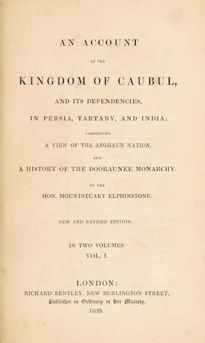 Aquatint & Lithography - An Account of the Kingdom of Caubul Vol. 1