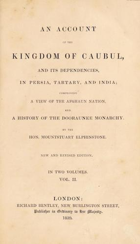 Aquatint & Lithography - An Account of the Kingdom of Caubul Vol. 2