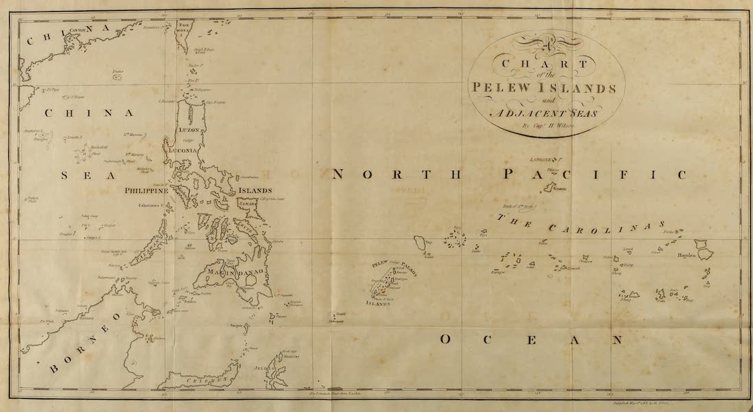 An Account of the Pelew Islands - A Chart of the Pelew Islands and Adjacent Seas (1788)