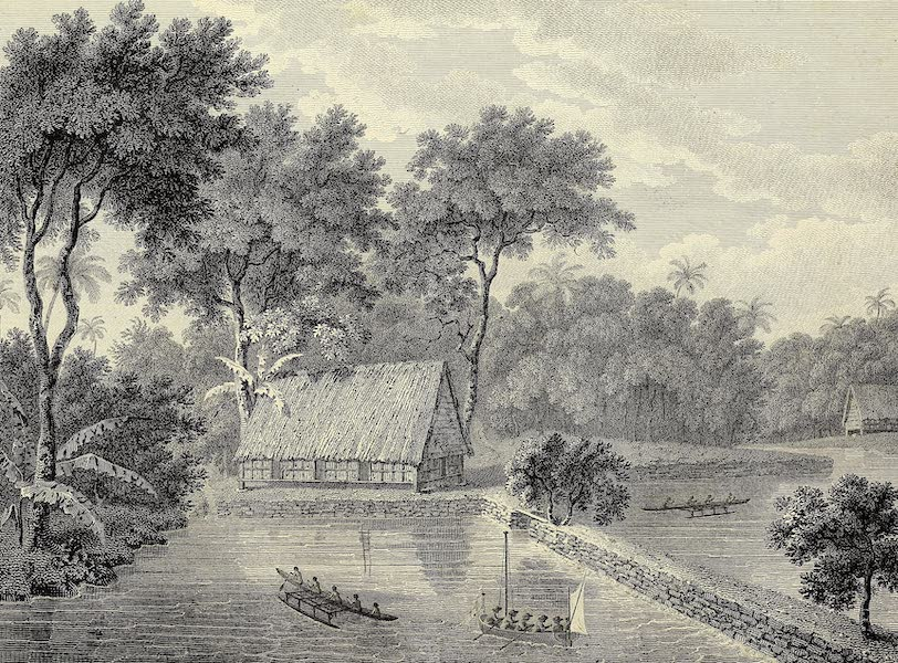 An Account of the Pelew Islands - View of theE Causeway or Landing Place at Pelew (1788)