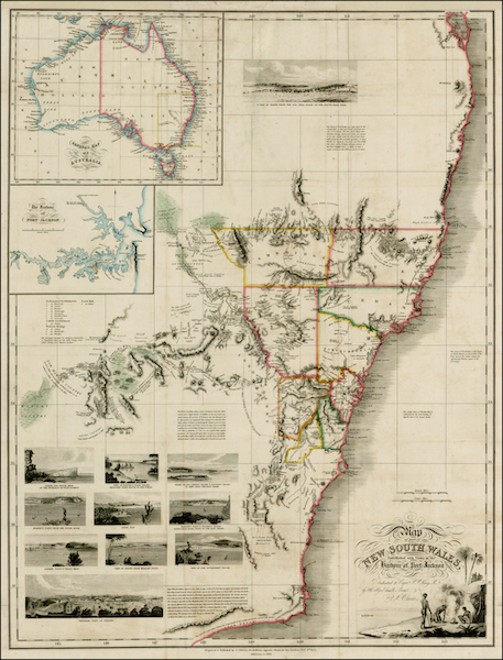 An Account of the State of Agriculture & Grazing in New South Wales - Map of Part of New South Wales (1826)