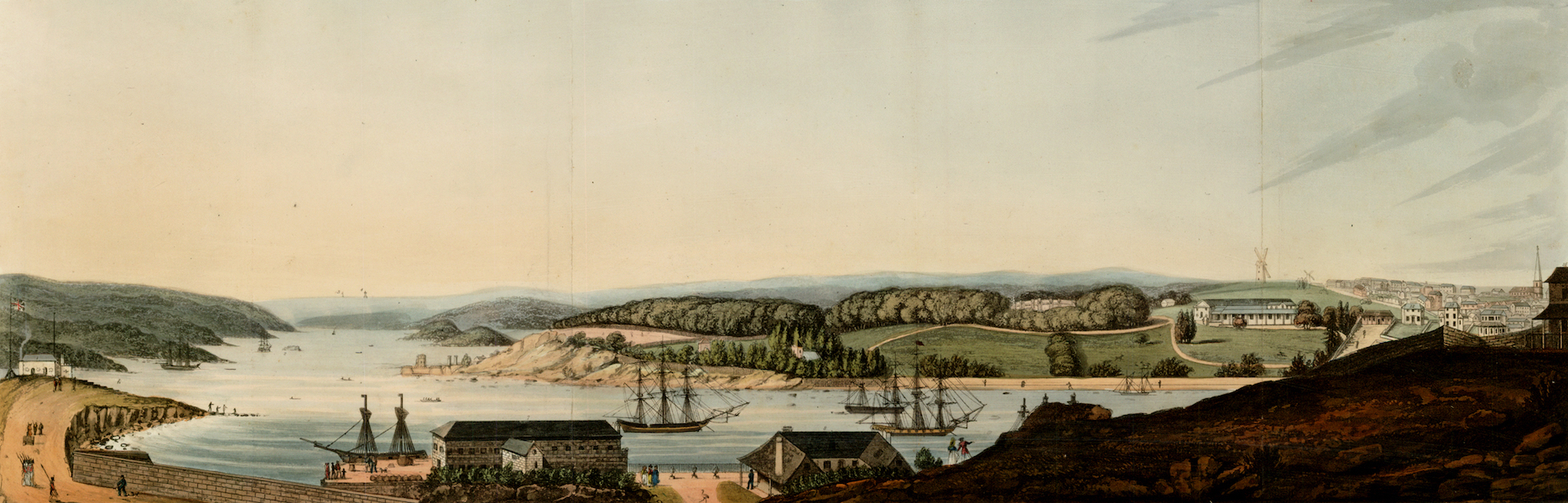 An Account of the State of Agriculture & Grazing in New South Wales - View of Port Jackson and part of the Town of Sydney (1826)