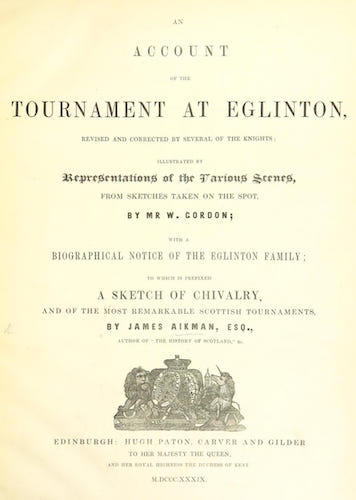 Aquatint & Lithography - An Account of the Tournament at Eglinton