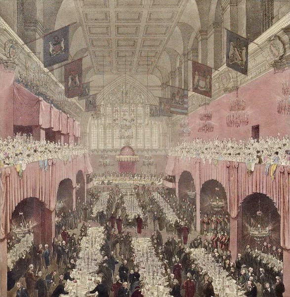 An Account of the Visit of His Royal Highness the Prince Regent - View of the Interior of Guildhall (1815)
