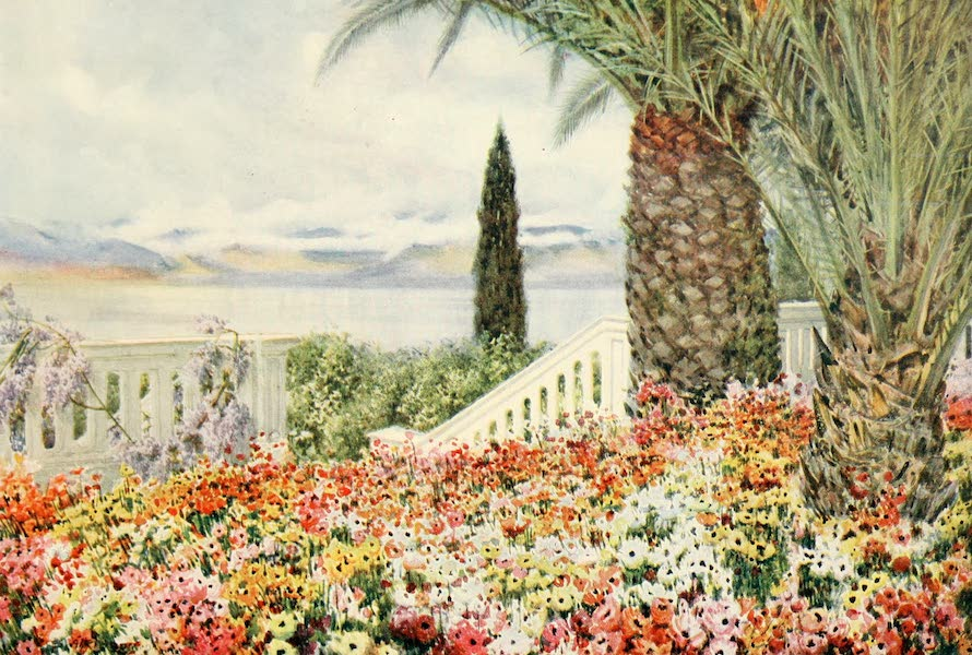 An Artist in Corfu - Over the Straits from the Achilleion (1911)