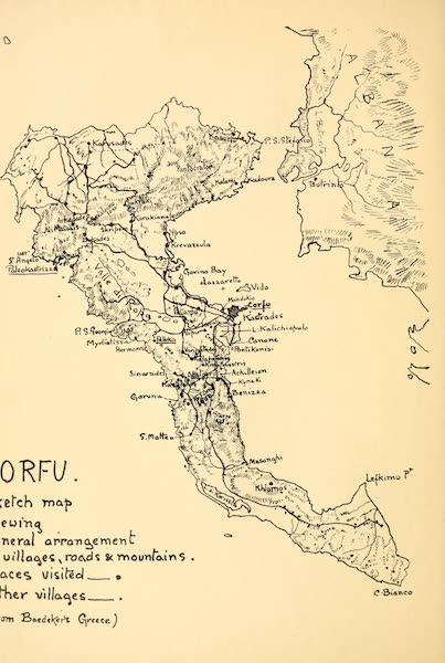 An Artist in Corfu - Map (1911)