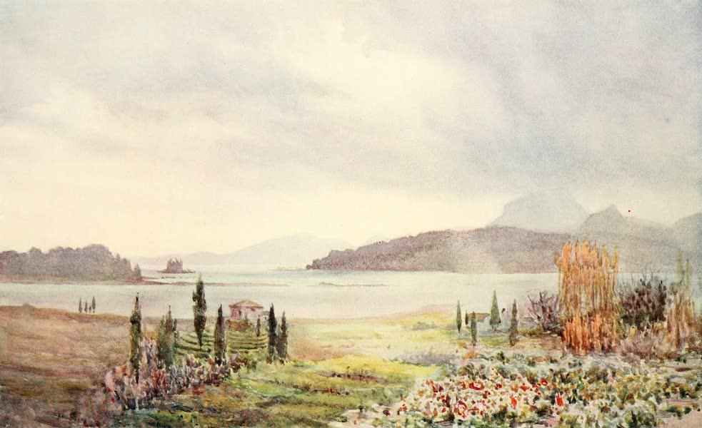An Artist in Corfu - Winter Day on the Lagoon (1911)
