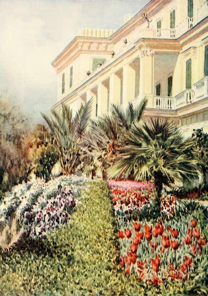 An Artist in Corfu - The Villa Achilleion (West Front) (1911)