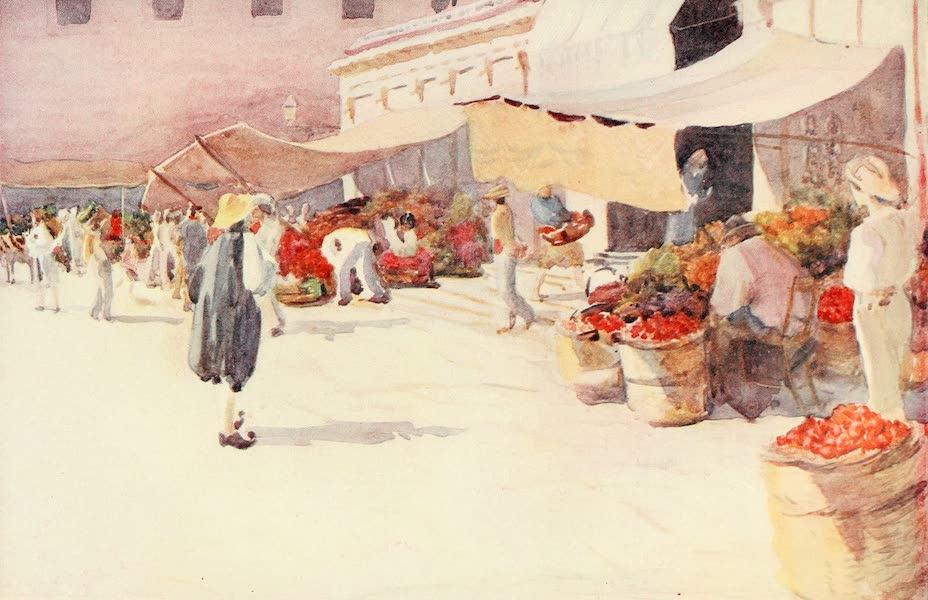 An Artist in Corfu - The Market Place during the Tomato Season (1911)