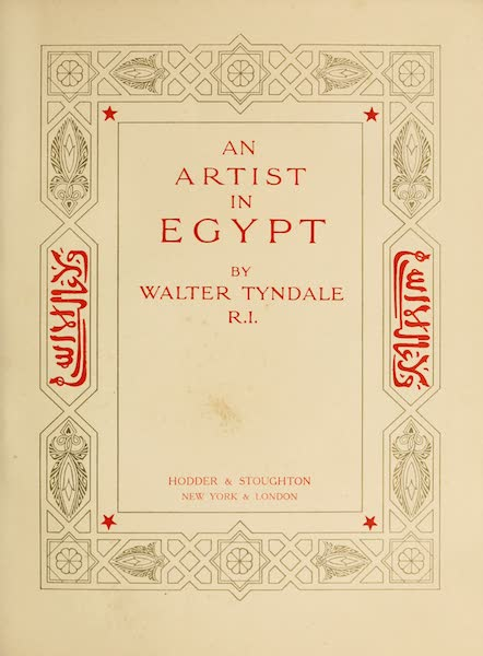 An Artist in Egypt - Title Page (1912)