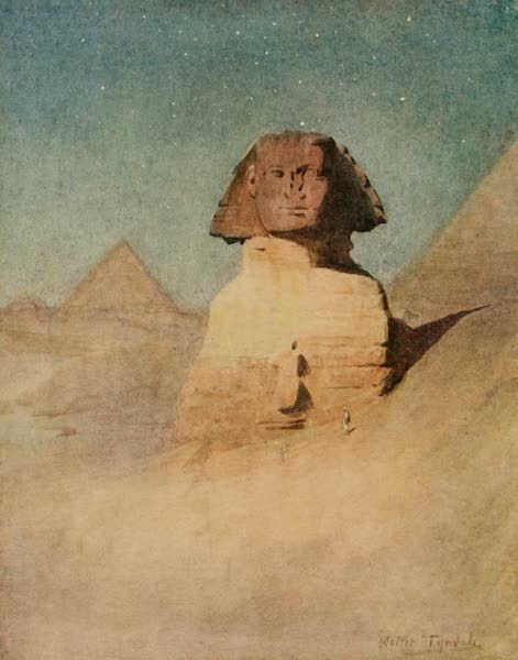 An Artist in Egypt - The Sphinx by Moonlight (1912)