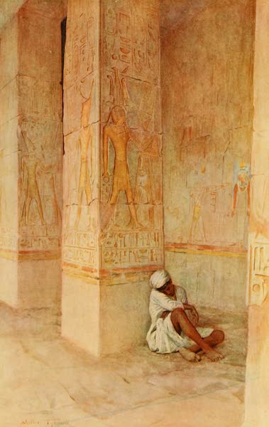 An Artist in Egypt - The Birth Colonnade in the Temple of Hatshepsu (1912)