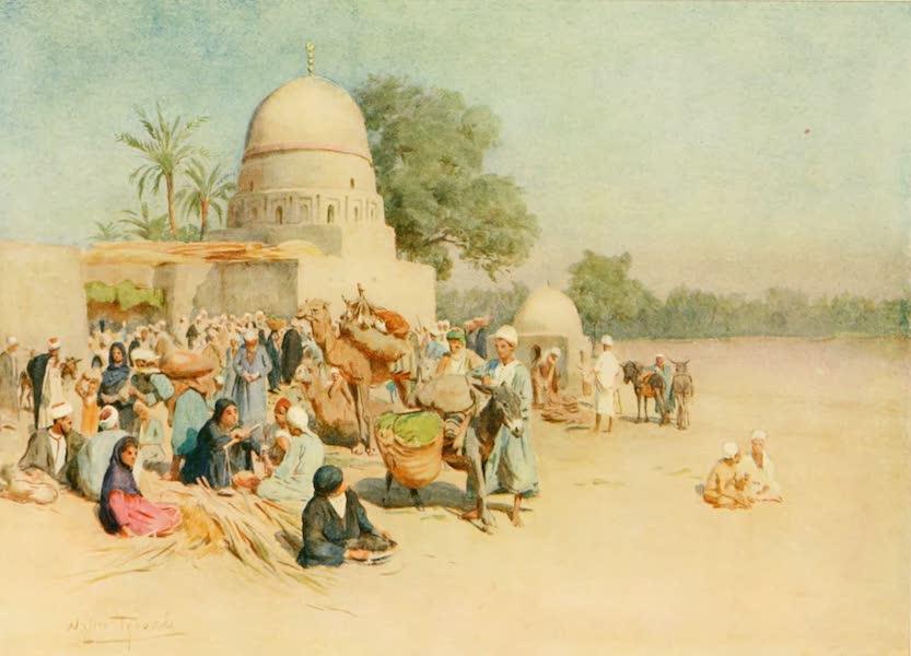 An Artist in Egypt - A Market on the Edge of the Desert (1912)