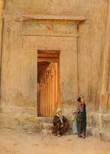 An Artist in Egypt - Doorway in the Temple of Isis (1912)