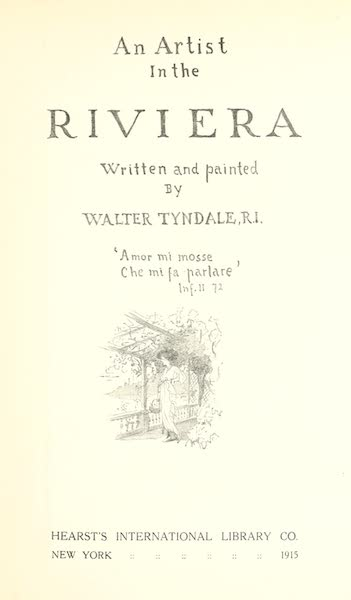 An Artist in the Riviera - Title Page (1915)