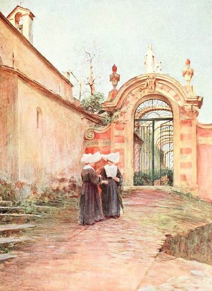 An Artist in the Riviera - Entrance to the Villa Centurione, S. Margherita Ligure (1915)