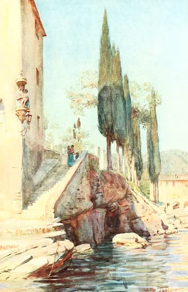 An Artist in the Riviera - At S. Michele, Rapallo (1915)