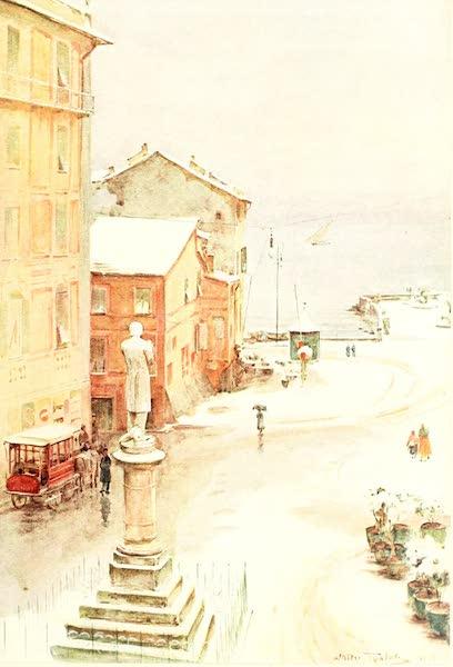 An Artist in the Riviera - Piazza Mazzini, S. Margherita (1915)