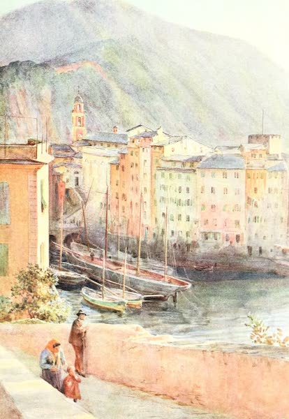 An Artist in the Riviera - The Harbour at Camogli (1915)