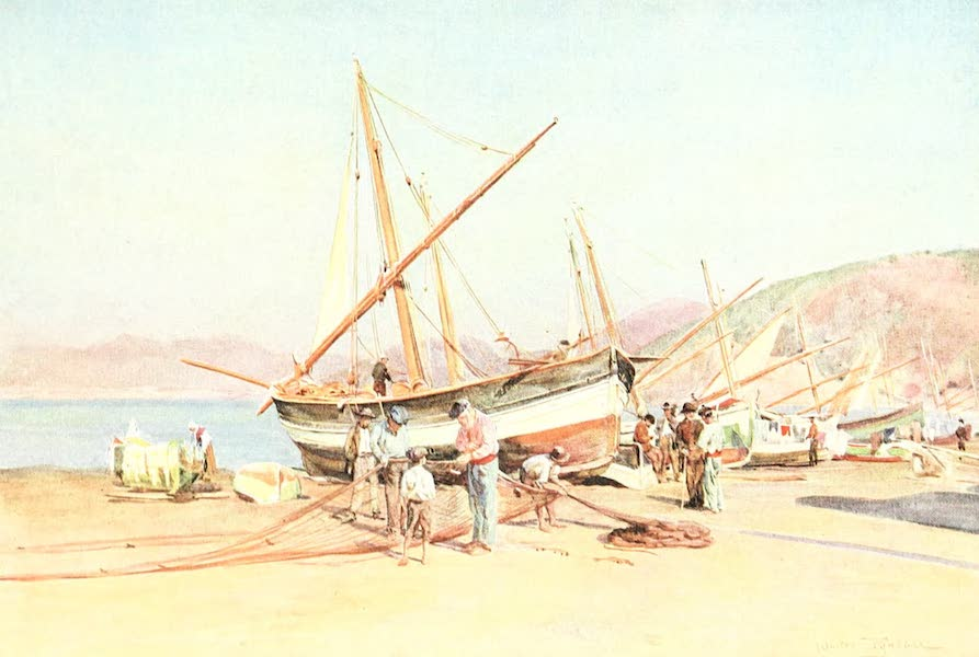 An Artist in the Riviera - The Strand at Sestri Levante (1915)