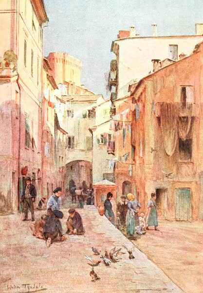 An Artist in the Riviera - La Piazza, Sestri Levante (1915)
