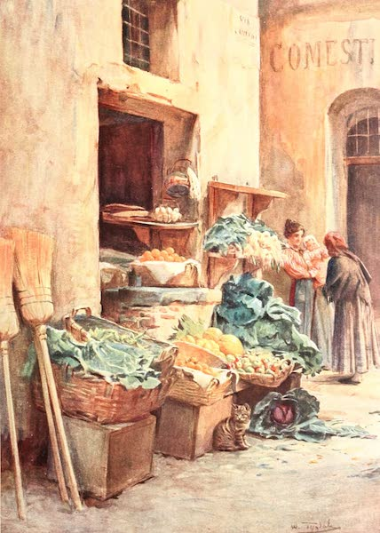 An Artist in the Riviera - The Greengrocer Shop (1915)