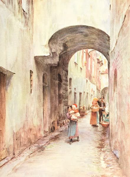 An Artist in the Riviera - A Lane in Noli (1915)