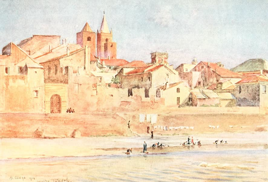 An Artist in the Riviera - Albenga from the Centa (1915)