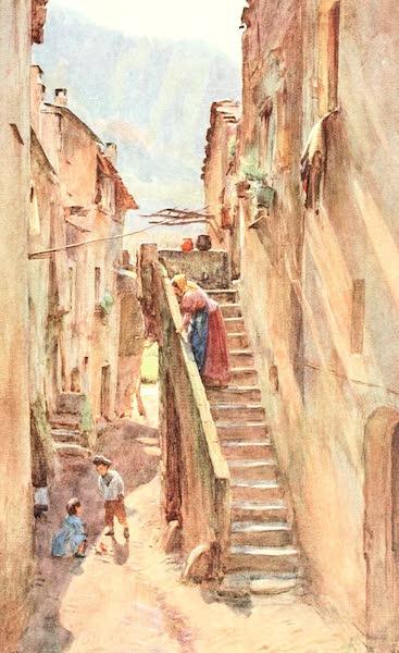 An Artist in the Riviera - Vicolo del Ponte, Villa Nuova di Albenga (1915)