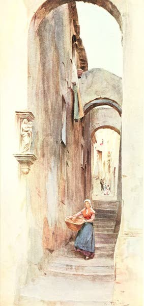An Artist in the Riviera - Street in Cervo San Bartolommeo (1915)
