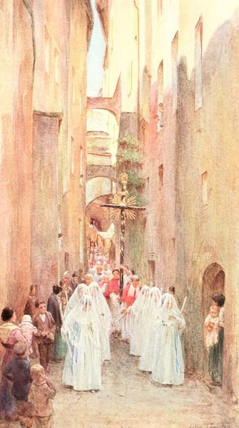 An Artist in the Riviera - A Procession in San Remo (1915)