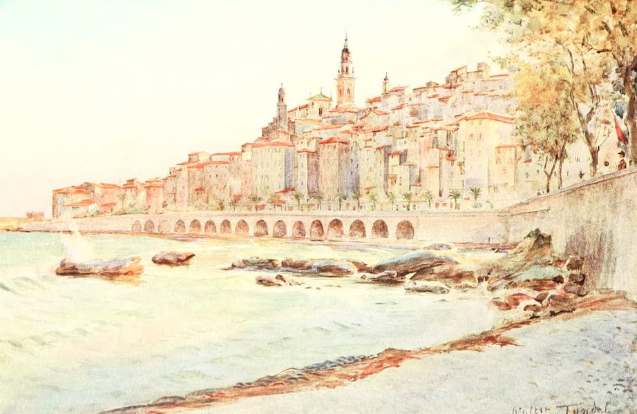 An Artist in the Riviera - Mentone, from Caravan (1915)
