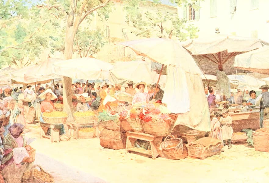An Artist in the Riviera - The Market at Nice (1915)